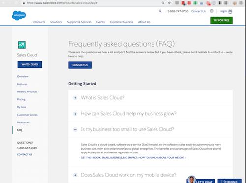 FAQ Page Salesforce FAQ