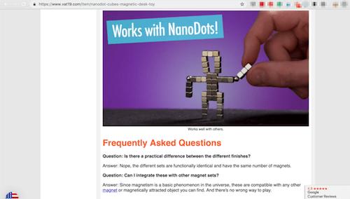 FAQ Page Vat19 NanoDots FAQ