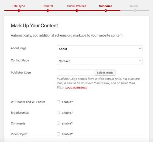 Aggiungi schema a WordPress automaticamente