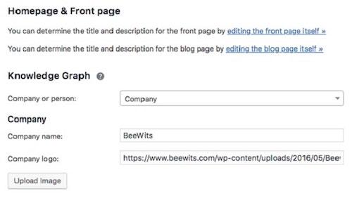 Aggiungi schema alla home page di WordPress