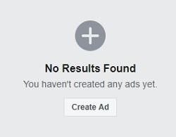 Create Ad Button For New Ad Campaign