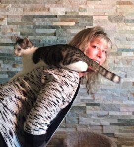 Alison Larson with Cat