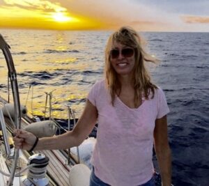 Alison Larson Sailing in Sicily