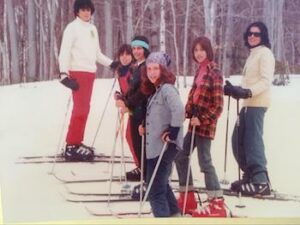 Alison Larson Skiing with Family