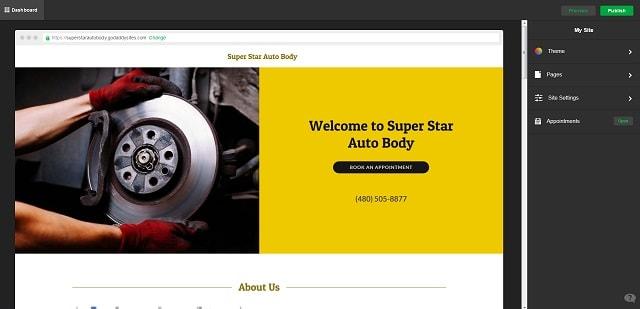 Automotive Website Color Scheme