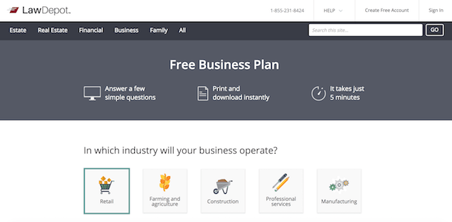Best Business Plan Templates LawDepot