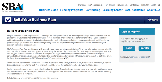 Best Business Plan Templates SBA