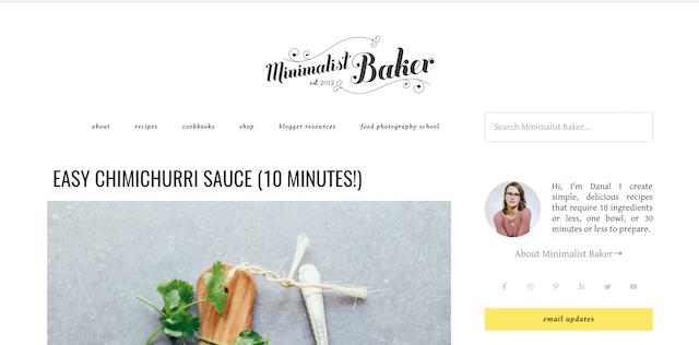 Best Cooking Blogs Minimalist Baker