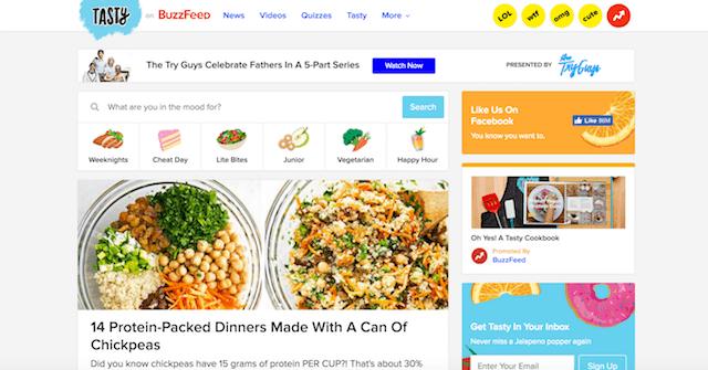 Best Food Blogs Tasty on BuzzFeed