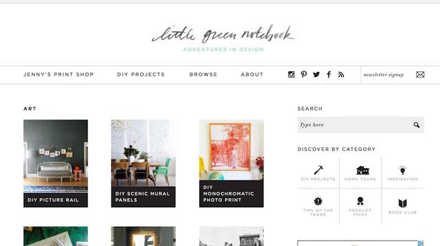 Best Interior Design Blogs Little Green Notebook