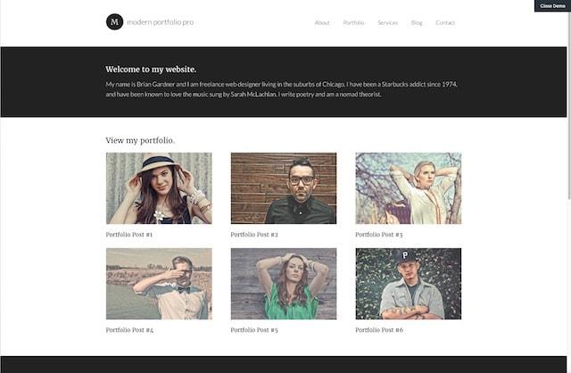 Best Portfolio WordPress Themes Modern Portfolio Pro