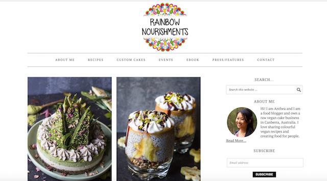 Best Vegan Blogs Rainbow Nourishments