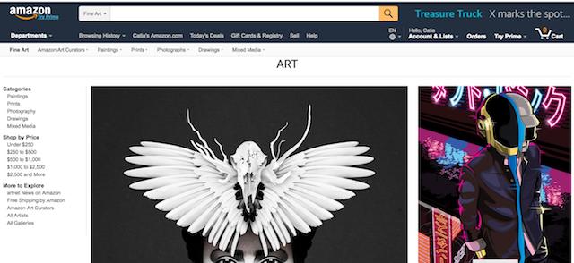 Best Websites to Sell Art Amazon