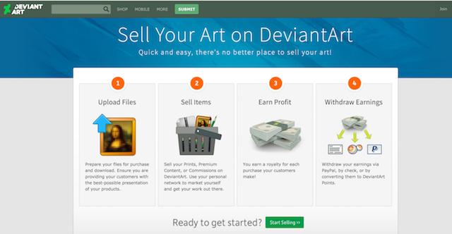 Best Websites to Sell Art DeviantArt
