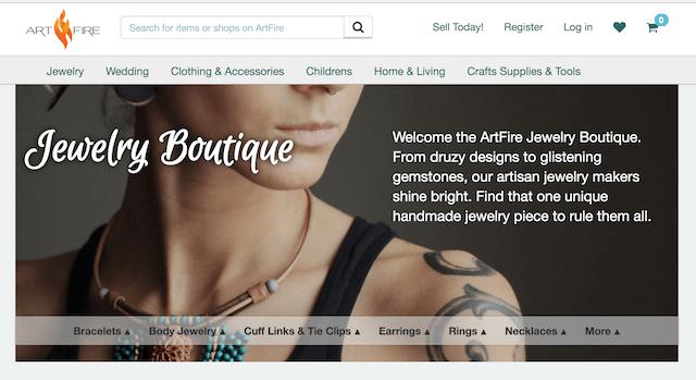 Best Websites to Sell Jewelry ArtFire