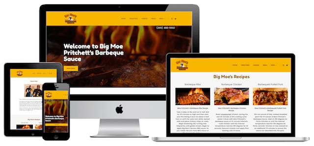 Big Moe's BBQ Website