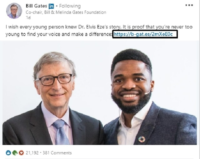 Bill Gates Twitter Shows Domain Hack