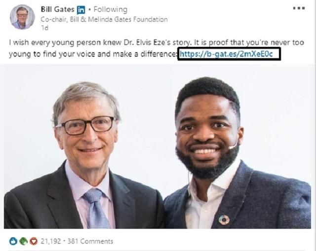 Bill Gates Twitter Shows Domain Hack