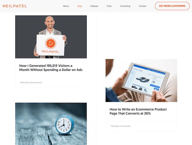 Blog Marketing Neil Patel