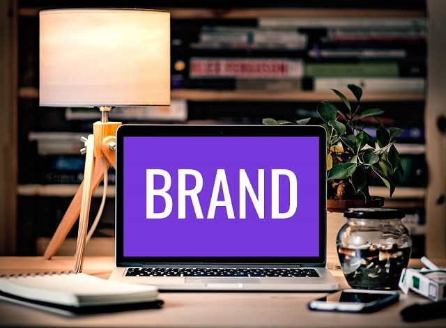 Brand Colors Sample Website with Purple Background