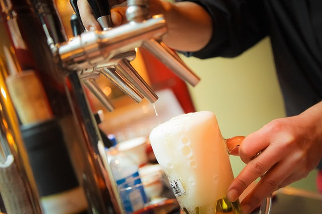 Brewery Pouring Draught Beer From Tap