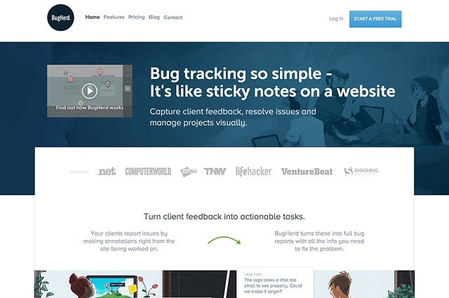 Bug Tracking Tools BugHerd