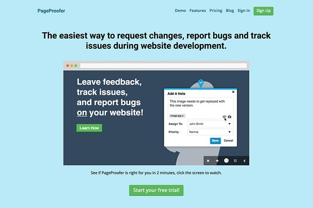 Bug Tracking Tools PageProofer