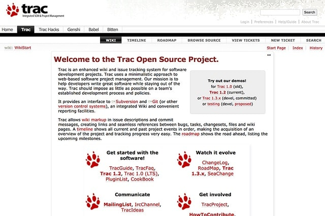 Bug Tracking Tools Trac