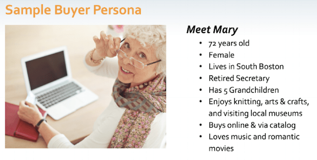 Build a Buyer Persona Mary