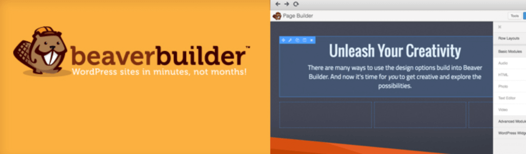 Beaver Builder page builder plugin for WordPress