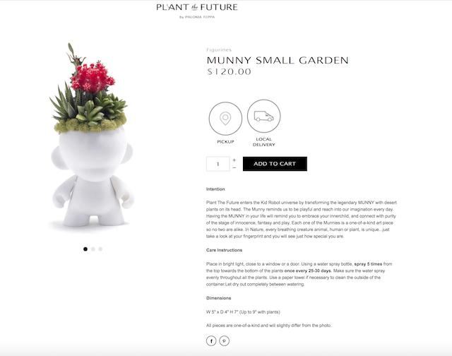 Build Online Store Plant The Future Product Description