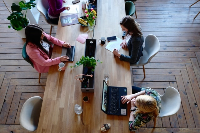 Business Entity Women Coworking Table