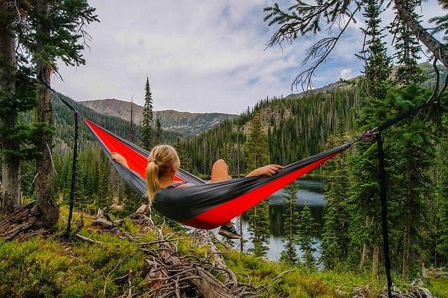 Business Stress Relaxing In A Hammock