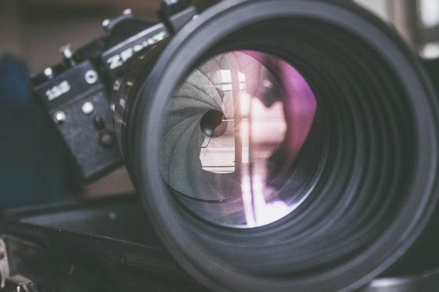 Primo piano della fotocamera