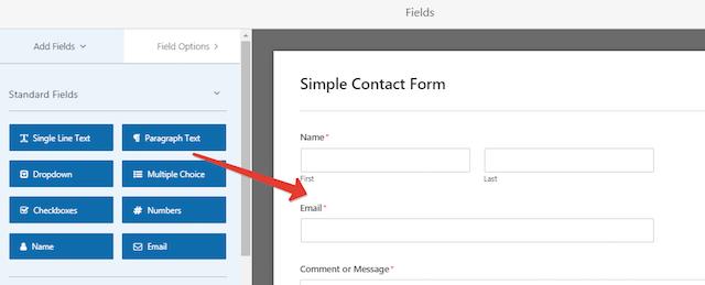 Client Feedback Form Fields