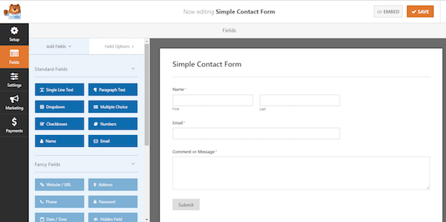 Client Feedback Form Simple Contact Form