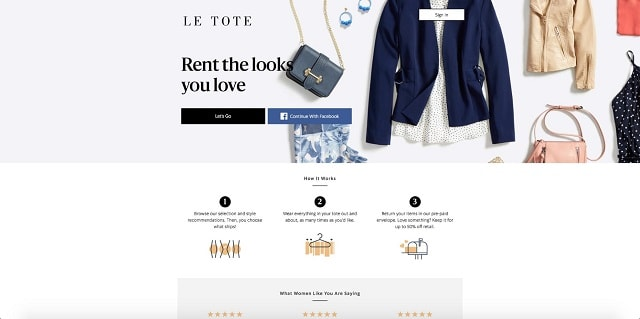 Clothing Rental Service Le Tote