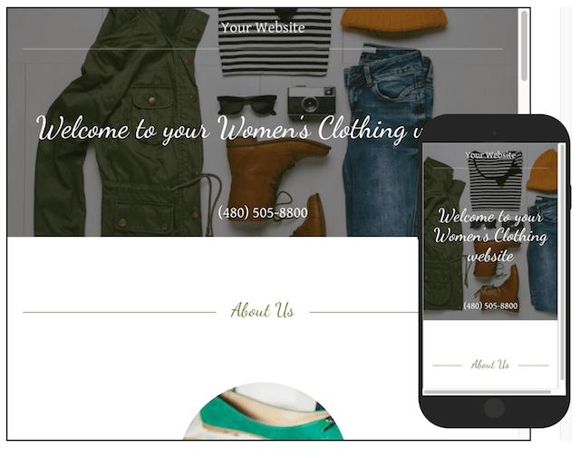 Clothing Rental GoCentral Website Builder Clothing