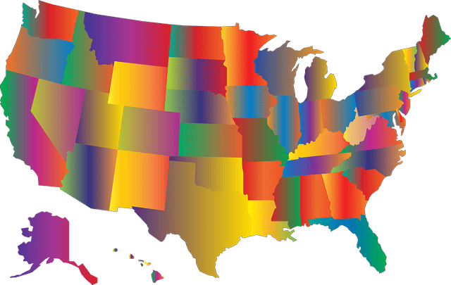 Colorful US Map Illustrates Foreign Qualification