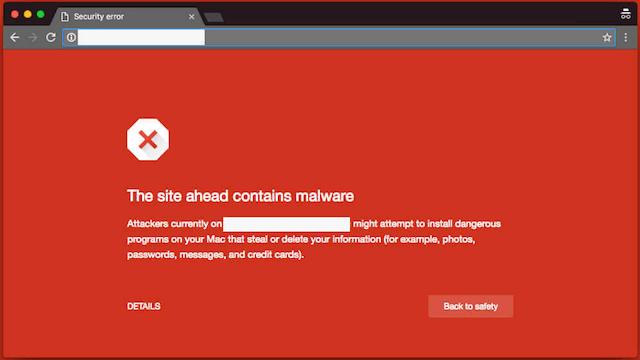 Computer Malware Google Warning