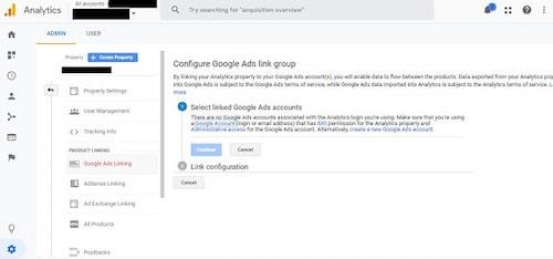 Configure Google Ads in Google Analytics