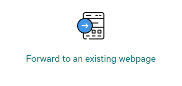 GoDaddy Forward to Existing Webpage