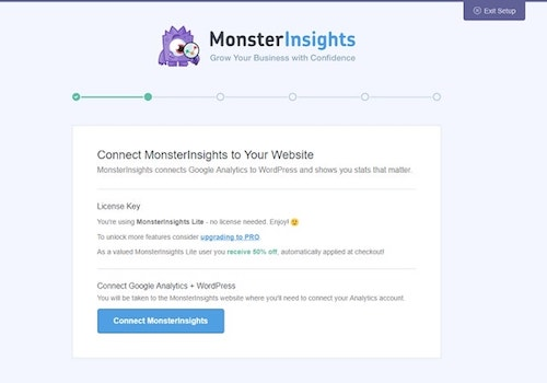 Connect MonsterInsights to Google Analytics WordPress