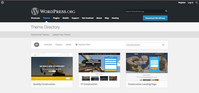 Construction WordPress Theme WP Themes