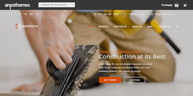 Construction WordPress Theme Constructo]