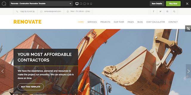Construction WordPress Theme Renovate