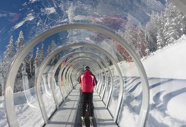 Snowy Mountain Ski Lift