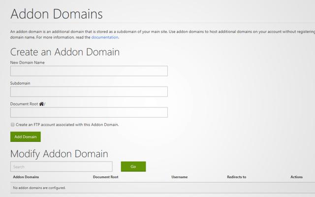 cPanel Tips Tricks Addon Domains