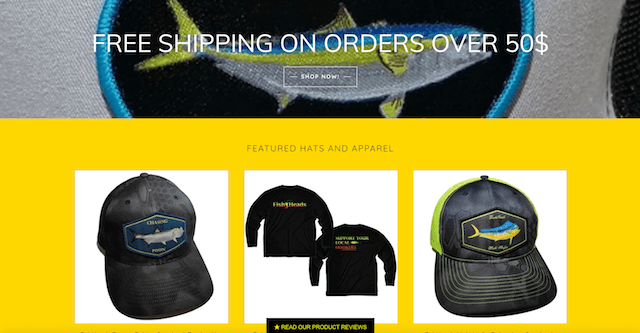 Create Online Store Fishheads Free Shipping]