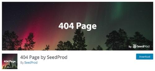 custom 404 Page WordPress SeedProd